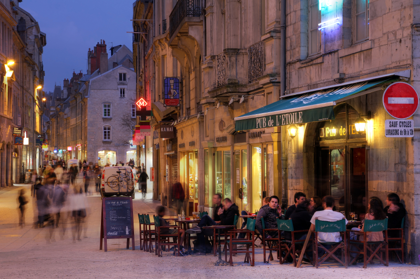 French pub, Besancon